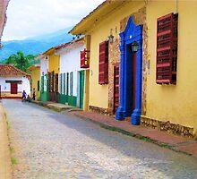 Blue in the street by Esperanza Gallego