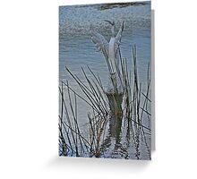 WATERBIRD SCULPTURE Greeting Card