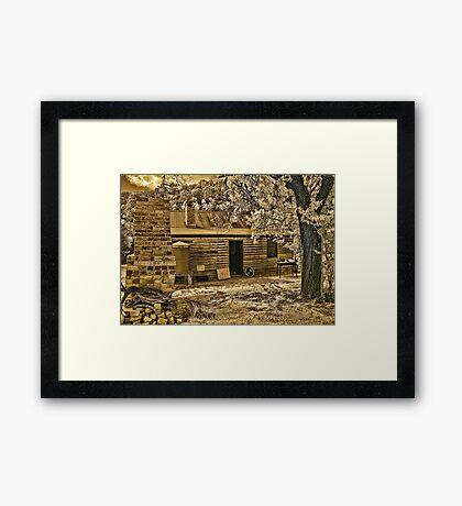 Back to Steiglitz - The Blacksmiths House Framed Print