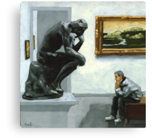 A Lot to Think About Canvas Print