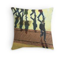 Off to Work Throw Pillow