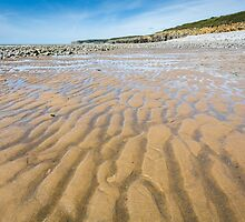 Sand Patterns at Colhugh Beach, Llantwit Major by Heidi Stewart