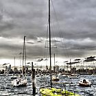 St. Kilda Marina and City Skyline by JHP Unique and Beautiful Images