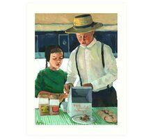 Farmers Market - World of the Amish Art Print