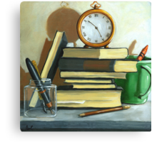Not Enough Time still life oil painting Canvas Print