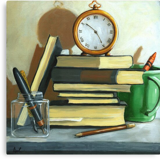 Not Enough Time still life oil painting by LindaAppleArt