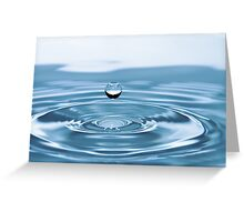 Water Drop with Ripples Greeting Card