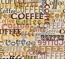 Seamless pattern with coffee typographical  by orgus88