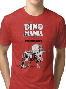 Dino Mania Triceratops Tri-blend T-Shirt