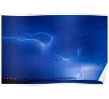 Lightning,Geraldton Western Austalia Poster