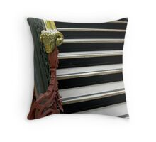 Vintage Handrail At The court House Throw Pillow