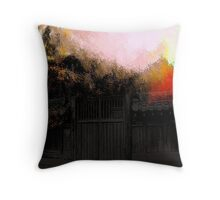 old gate..... Throw Pillow