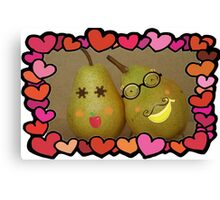 Seeley Pear and his better half Canvas Print