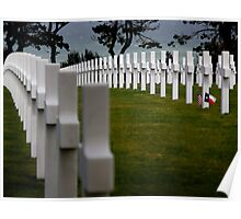 Omaha Beach - US war graves Poster