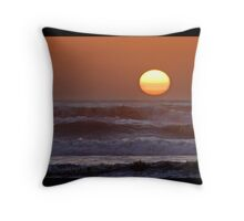 Sinking Into The Raging Sea Throw Pillow
