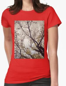 Birds Between The Trees Womens Fitted T-Shirt