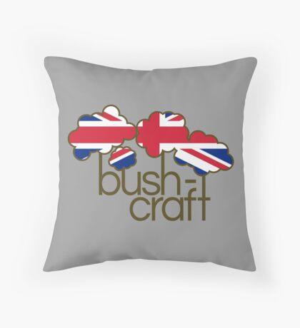 Bushcraft United Kingdom flag Throw Pillow