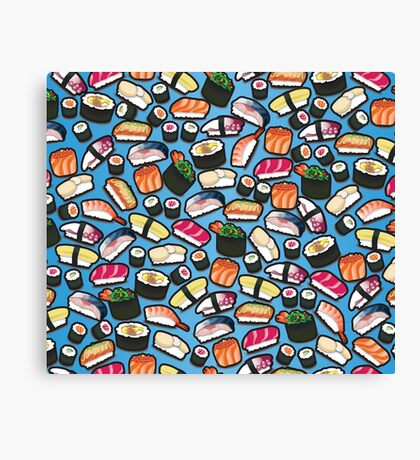 Blue Sushi Canvas Print