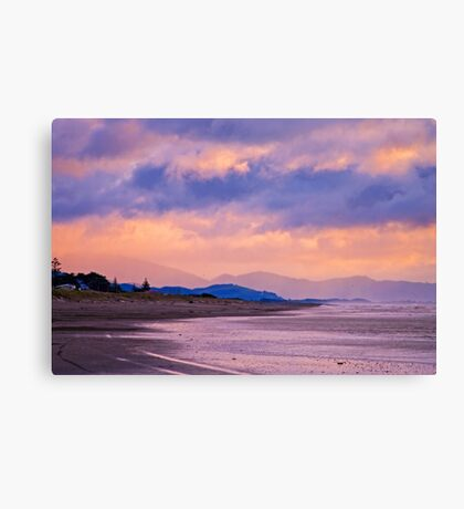 Sea Spray And Evenings Glow Canvas Print