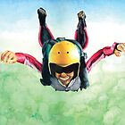 illustration of a sky diver by paulv