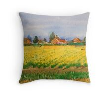 Daffodils field,East Anglia. Throw Pillow
