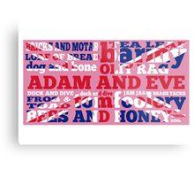 Pink Union Jack, Cockney Rhyming Slang Metal Print