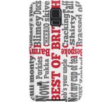 English slang on the St George's Cross flag Samsung Galaxy Case/Skin