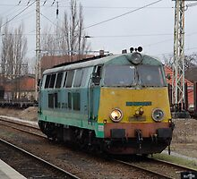 The railroad engine of the class SU 45 of the Polish state road. by trainmaniac