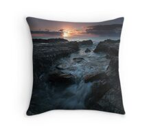 Currumbin Rocks Sunrise Throw Pillow