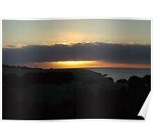 Sun sets at Snelling Beach Poster