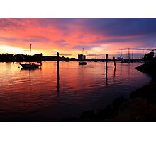 Sunset on the Mersey River  Photographic Print