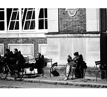 Reading the news Photographic Print