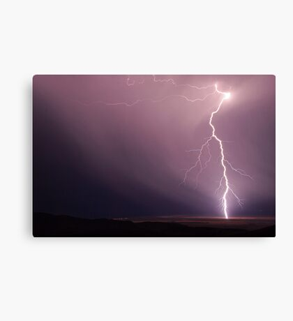 Fork Lightning near Port Germain Canvas Print