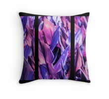 Canna Lily Foliage Tryptich Throw Pillow