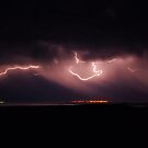 Sheet lightning over Port Germain by Wayne England