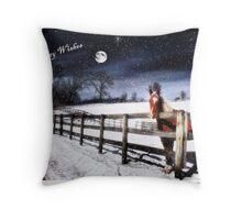 Horse by Moonlight Throw Pillow