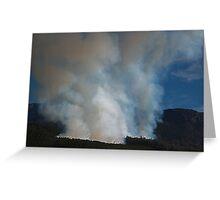 Mt. Rowland, Forestry Fire Tasmania 2008 Greeting Card
