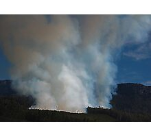 Mt. Rowland, Forestry Fire Tasmania 2008 Photographic Print