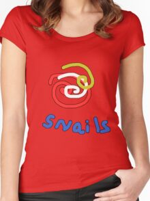 Snails with a twist TEE SHIRT/BABY GROW Women's Fitted Scoop T-Shirt