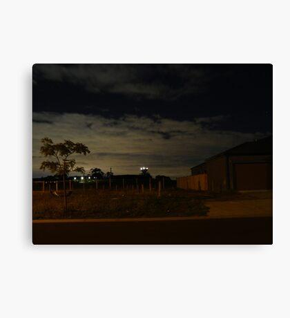 Quiet Suburb at Night Canvas Print