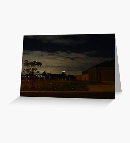 Quiet Suburb at Night Greeting Card
