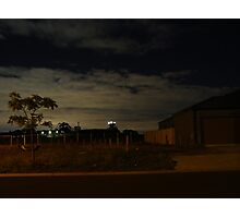 Quiet Suburb at Night Photographic Print