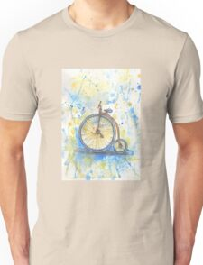 Antique high wheel bike Unisex T-Shirt