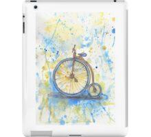 Antique high wheel bike iPad Case/Skin