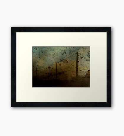 The Skies Grew Darker (It Made Our Hearts Seem Lighter) Framed Print