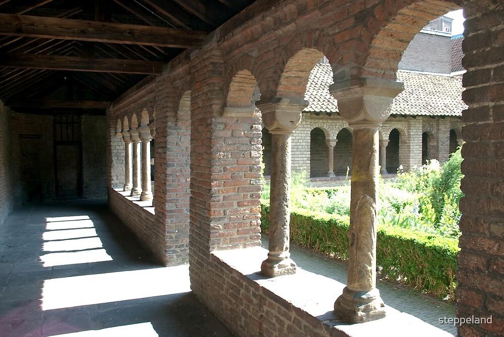Romanesque cloister gallery and herb garden - Utrecht by steppeland