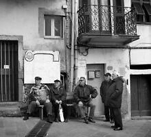 Men in Riomaggiore – Cinque Terre by maddie5