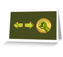 rolling attack - Blanka Greeting Card