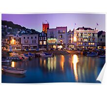 Dartmouth Quayside at night Poster