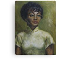 Portrait in oil Canvas Print